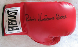 Rubin Hurricane Carter signed Everlast Boxing Glove - COA - $94.00