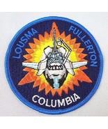 Souvenir Patch Space Shuttle Columbia Lousma Fullerton NASA Vintage Sew On - $7.95
