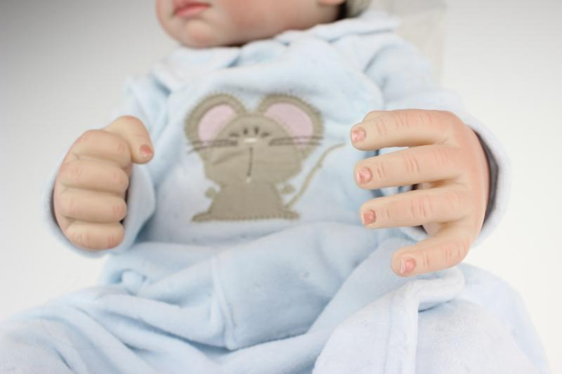 20 Quot Full Silicone Body Mouse Boy Doll Lifelike Reborn Baby