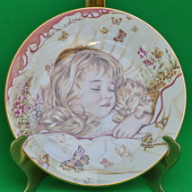 """1987 Royal Worcester (England) """"Monday's Child"""" Collector Plate By Pam Cooper - $5.95"""
