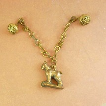 Antique vest fob Dog Chain Button collar link Victorian figural animal c... - €77,24 EUR