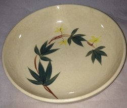 """Mission Ivy Handpainted Pottery Glass Bowl 8.5"""" Yellow Green Brown  - $18.66"""
