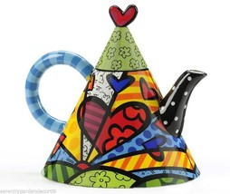 Romero Britto Ceramic Teapot - A New Day Design 55oz size #334228