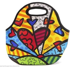 Romero Britto A New Day Design Neoprene Lunch Tote Bag with Cut Out Handles