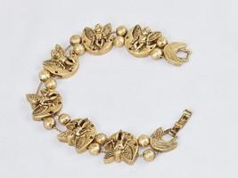 Charm Bracelet, Crescent Moon Angels ~ TOFA Classic Slider, Gold Toned #... - $9.75