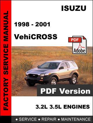 ISUZU VEHICROSS 1998 - 2001 FACTORY OEM SERVICE REPAIR WORKSHOP SHOP FSM MANUAL