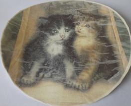 "1 A Pair of Kittens Waterslide Ceramic Decals 7.5""  - $4.25"