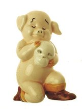 Danbury Mint 8.5cm in height pig figurine - Piggies collection - Ham-let - $44.10