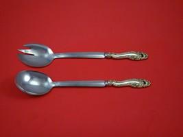 Decor by Gorham Sterling Silver Salad Serving Set 2pc Modern Custom Made... - $157.41