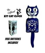 "GALAXY BLUE KIT CAT CLOCK 15.5"" Glitter Free Battery MADE IN USA Kit-Cat... - $79.99"
