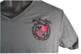 Walt Disney World embroidered crest Cast Exclusive V neck Shirt L Florida - $18.59