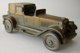 Vintage 1927 Lincoln Brougham Banthrico Car Coin Bank Metal Automobile - $25.00