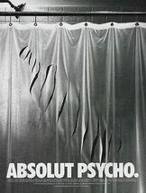 Absolut Psycho Slashed Shower Curtain Hitchcock Movie 1997 Ad Absolut Vodka - $14.99