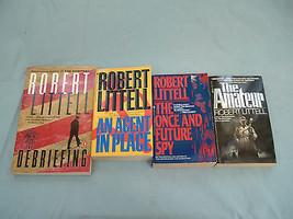 Robert Littell 4 PB spy book lot the amateur, the debriefing, an agent i... - $11.18