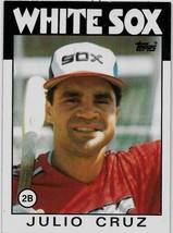 1986 Topps Baseball Card, #14, Julio Cruz, Chicago White Sox - $0.99