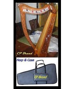"NEW 22 STRING 33"" HIGH HARP WITH LEVERS CP BTAND FREE CARRY BAG & SHIP I... - $457.92"
