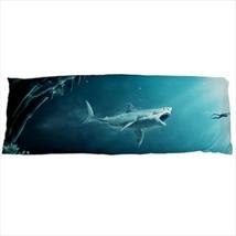 dakimakura body hugging pillow case shark jaws megalodon geek nerd cover surfer  - $36.00