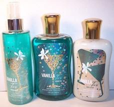 Bath & Body Works Body Lotion Shower Gel Shimmer Mist Spray Vanilla Tini... - $29.99