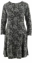 GK George Kotsiopoulos Bracelet Slv Dress Peplum Hem Grey Black 1X NEW A... - $20.76