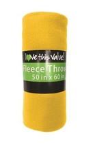 50 x 60 Inch Soft Cozy Fleece Blanket / Fleece Throw - Yellow - $7.37