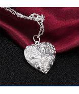 STERLING SILVER FILIGREE HEART PHOTO LOCKET - $13.23 CAD
