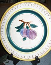 "Stangl-Terra Rose Fruit-Salad Plate-Plum-Hand Painted-8.25""-USA - €16,68 EUR"