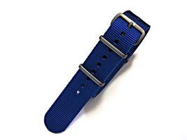 NATO G10® Solid EDGE™ Blue Ballistic Nylon Watchband Watch Strap - $15.95