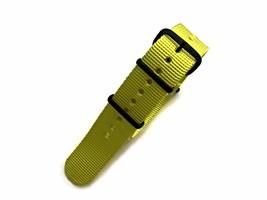 NATO G10® Solid EDGE™ Yellow Ballistic Nylon Watchband Watch Strap - $15.95