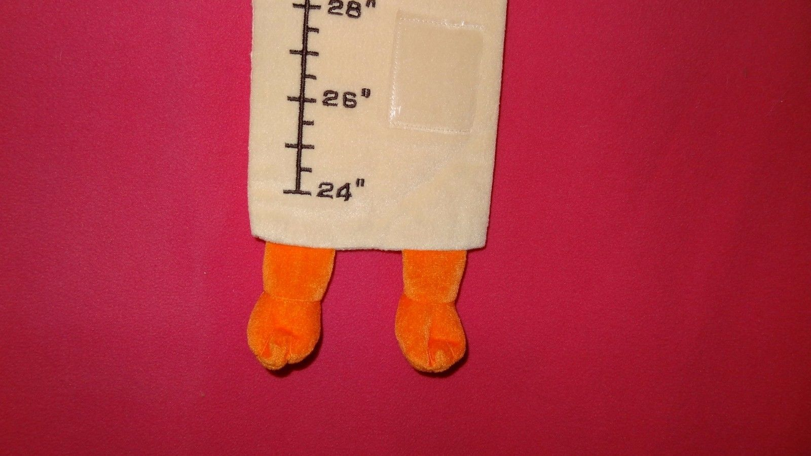 """Duck Toddler Growth Chart Wall Hanging Six Photos Frame Fabric 24""""-60""""  Unisex"""