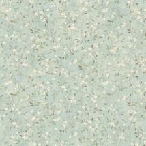 Floral Sprig Wild Flowers Wallpaper Aqua York Wallcoverings LG1306 - $67.98