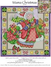 Mama Christmas JE046 cross stitch chart Joan Elliott Designs - $14.00