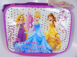 Disney Princess Lunch Bag Box Cinderella Belle Rapunzel Back to School Girl Gift