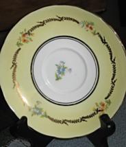 VTG Grosvenor- Yellow w Floral Sprays-Gold Trim-Saucer Only-Bone China-E... - $8.25
