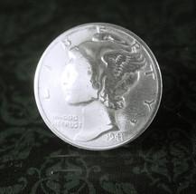 Liberty Head Coin Tie tack Vintage Silver 1941 Mercury Dime Coin Cuff Je... - $85.00