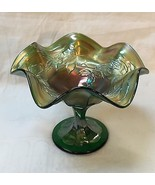 CARNIVAL GLASS Fenton ROSE SPRAY Ice Green Comp... - $84.15
