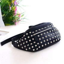 Women's/Men's Fashion Shoulder Chest Backpack Fanny Bag Rivet Packets Wa... - $19.53