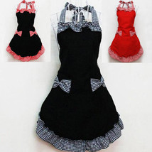New Lovely Kitchen Aprons with 2 Pockets For Women Girls Cooking Bib 3 C... - $9.99