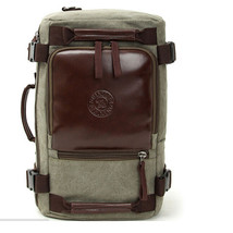 Vintage Canvas business Rucksack laptop shoulder bag travel backpack Cam... - $28.97
