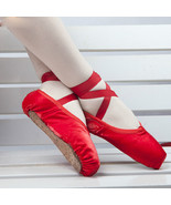 NEW Ballet Pointe Shoes Wome's Girls Dance Toe Shoes with Ribbon ALL Size - $16.99