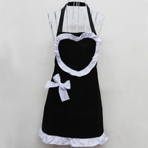 New Cute Heart Fashion Kitchen Chef Aprons For Women Girls Black Cooking... - $8.59