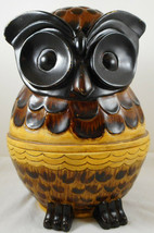 "Brown Owl Decorative Storage Box Jar Canister 10"" Figurine - $29.69"