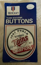 Vintage Minnesota Twins 1987 MLB Mondo Serie Champions Pin-Back Bottoni Perno - $13.85