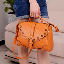 NEW Womens Faux Leather Handbag Tote Cross Body... - $11.03