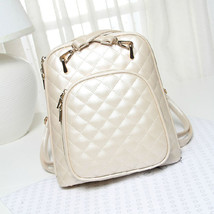 New Womens Quilted Design School Tote Handbag Shoulder Bag Backpack Satc... - $31.89