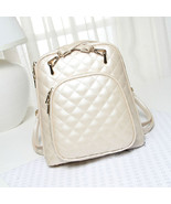 New Womens Quilted Design School Tote Handbag Shoulder Bag Backpack Satchel Bags - $31.89