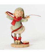 Heart of Christmas elf with roll of ribbon  New in Box - $39.99