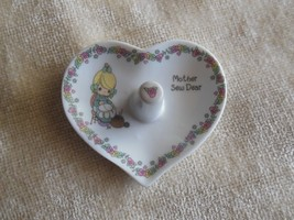 "Precious Moments Porcelain Ring Holder/Dish ""Mo... - $15.34"
