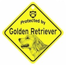 Protected by  Golden Retriever  Dog Car Window Sign - $4.75