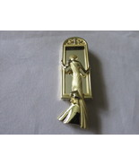 Vintage Mirrored Pin - Lady in Evening Gown, Am... - $12.00