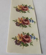"""29 Mixed Flowers Waterslide Ceramic Decals 1.25""""  - Vintage - $3.50"""